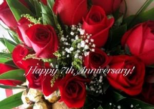 7th anniversary roses