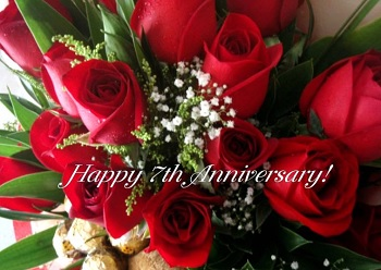 7th anniversary roses